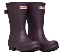 Back Adjustable Short Gummistiefel Dunkel