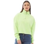 Maryam Reißverschluss Crop Sweatshirt Neon