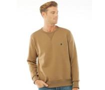 Basic Sweatshirt Hellbraun
