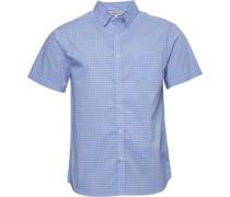 Karo Hemd mit kurzem Arm Blau