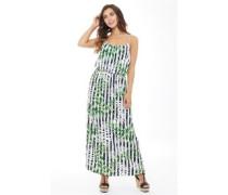 Womens Nova All Over Print Maxi Dress Cloud Dancer/Jungle Fever