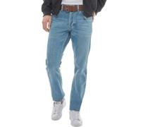 Bancrofter Jeans mit geradem Bein Denimmeliert