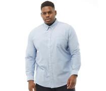 Übergröße Hemd mit langem Arm Hell