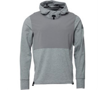 Mens Pullover Workout Hoody Charcoal Solid Grey