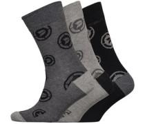 Drei Pack Socken Dunkelgraumeliert