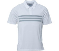 Mens Golf Climacool 3 Stripe Competition Polo White/Mid Grey/White