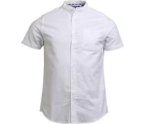 Tribune Hemd mit kurzem Arm Weiß