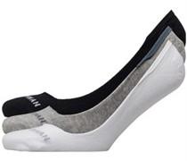 Makalu Drei Pack Drei Pack Sneaker Socken Schwarz