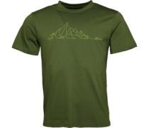 Mountain Line T-Shirt Hellolivengrün