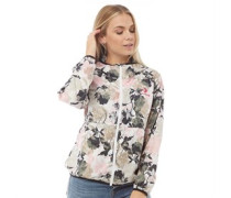 Blumen Windbreaker Jacke Weiß