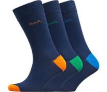Marvel Drei Pack Socken Navy