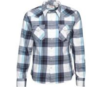 Barstow Western Hemd mit langem Arm Blau