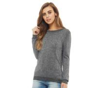 Metallic Pullover mit Rundhalsausschnitt Schwarz