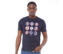 British Icons Circles T-Shirt Dunkelnavy