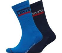 Sports Logo Zwei Pack Socken Blau