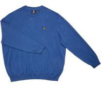 Big Plus Size Pullover mit Rundhalsausschnitt meliert