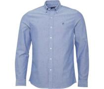 Oxford Hemd mit langem Arm Blau