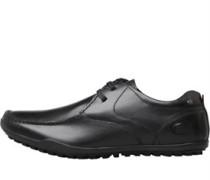 Mens Shield Lace Shoes Waxy Black