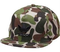 Camouflage Snap-Back Mütze Grün Tarnfarbe