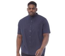 Übergröße Henley Hemd mit kurzem Arm Navy