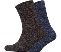 Zwei Pack Socken Mehrfarbig