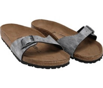 Madrid Birko-Flor Used Jeans Sandals Grey
