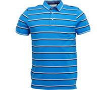 Garn Gefärbt Streifen Polohemd Blau