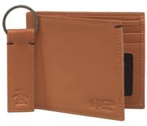 Brieftasche und Schlüsselring Hell