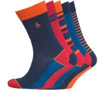 Five Socken Blau/Rot/Orange
