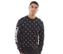 Star Chevron Druck Grafik Crew Sweatshirt