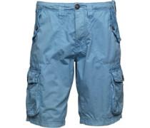 Twill Combat Cargo Shorts Blau