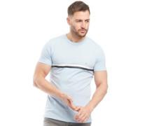 2 Streifen T-Shirt Hellblaumeliert
