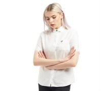 Oxford Bluse mit kurzem Arm Weiß