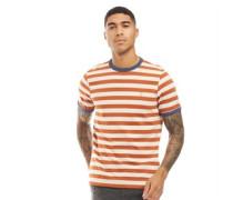 Belgrove Streifen T-Shirt Dunkelorange