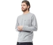 Gingham Sweatshirt Grau