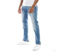 Cassady Mot Jeans mit geradem Bein Verblasstes Denim