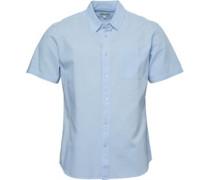 Baumwolle/Leinen Hemd mit kurzem Arm Hell