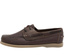 Mens Leather Boat Shoes Brown