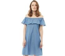 Chambray Kleid Blaumeliert