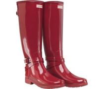 Womens Refined Adjustable Ankle Strap Gloss Wellington Boots Scarlett