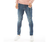 Fashion Fit Jeans in Slim Passform Verblasstes Denim
