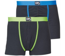 2 Pack Boxershorts Schwarz