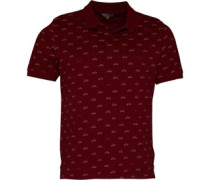 Scooter Print Polohemd Rot