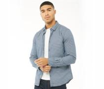 Fine Flannel Hemd mit langem Arm Dunkel