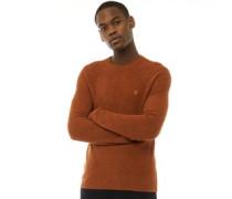 Garway Rippenstrick Pullover mit Rundhalsausschnitt Rost