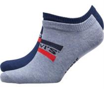 168 Series Sportswear Logo Zwei Pack Socken Navy