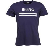 Finn Borg Tennis Ball Logo T-Shirt Navy