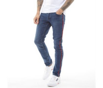 Piping Jeans in Slim Passform Mittel