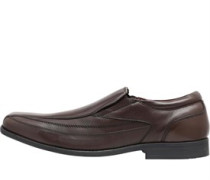 Mens Leather Slip-On Shoes Brown