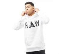 Afrojack Mens Art Hooded Sweat White